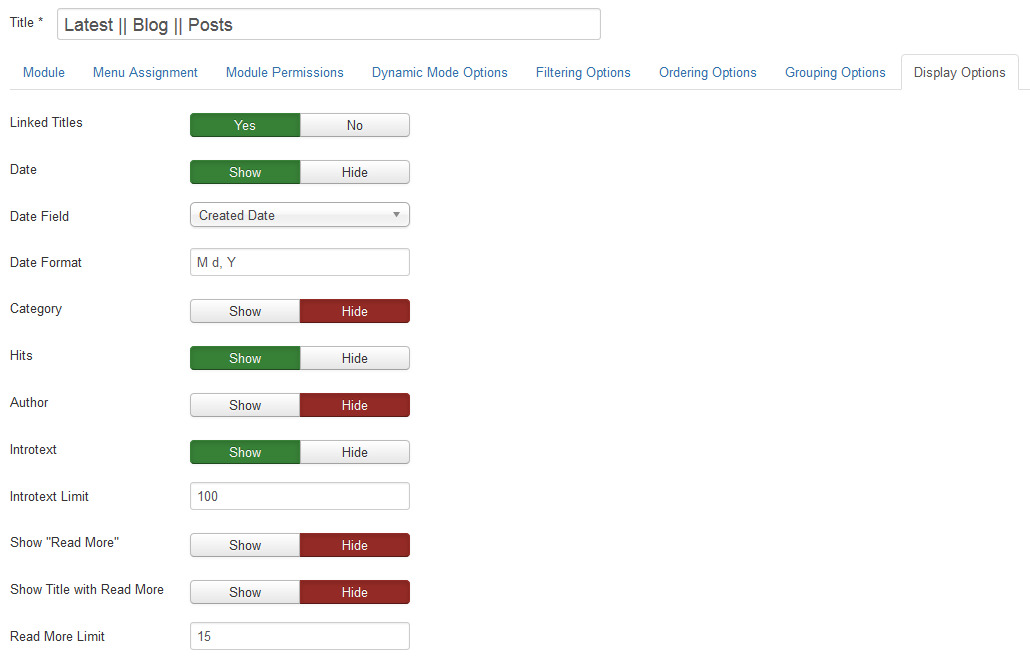 The way in order to produce and also deal with different types in Joomla 3